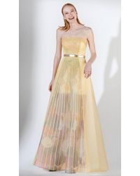 Saiid Kobeisy - 3442 Crystal Embellished Strapless A-line Dress - Lyst