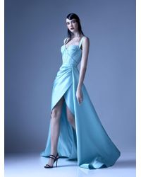 Mnm Couture - G0926 Embellished Sweetheart A-line Dress With Slit - Lyst