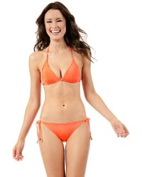 Voda Swim - Neon Orange Envy Push Up String Bikini Top - Lyst