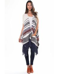 Goddis - Easy Rider Sleeveless Cape In Tradewinds - Lyst