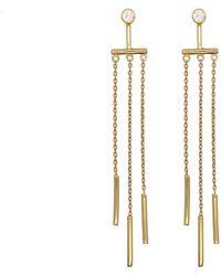 Rachael Ryen - Long Chain Ear Jackets - Lyst