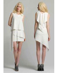 Chris Gramer - Mckenzie Dress In Winter White - Lyst