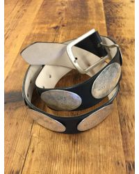 Streets Ahead Antique Silver Concho Leather Jean Belt - Metallic