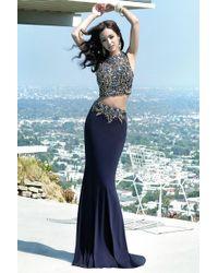 Alyce Paris - Prom Dress In Navy - Lyst