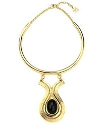 Ben-Amun - Gold Collar Necklace With Drop Pendant - Lyst