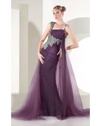 Mnm Couture - Rhinestones Embellished Gown Kh0954 - 1 Pc Purple In Size 6 Available - Lyst
