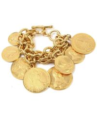 Ben-Amun - Moroccan Coin Multi Layer Coin Bracelet - Lyst