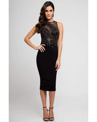 Terani Couture - Sleeveless Sheered Cocktail Dress 1722c4052 - Lyst