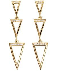 Rachael Ryen - Triple Triangle Drop Earrings - Lyst