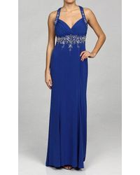 Adrianna Papell - 231m11860 Metallic Beaded Jersey Gown - Lyst