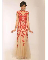 Jovani - Long Lace Mermaid Dress Jvn - Lyst