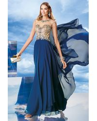 04f9679af6cb Lyst - Alyce Paris Prom Collection - 8022 Long Chiffon Prom Dress ...