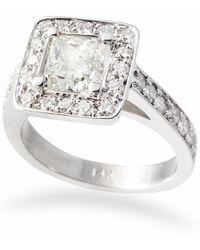 Ashley Schenkein Jewelry - Princess Diamond Halo Engagement Ring - Lyst