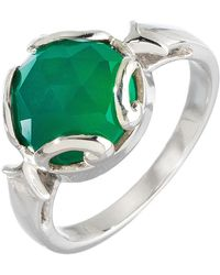 Heather Hawkins - Persephone Ring In Green Onyx - Lyst