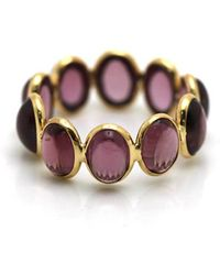 Trésor - Rhodolite Stackable Ring Bands In K Yellow Gold - Lyst