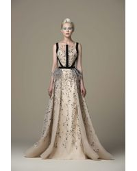 f04a1d824daa Saiid Kobeisy Sk By Gold Illusion Evening Gown in Metallic - Lyst