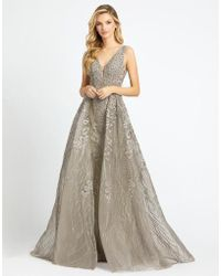 993f99b5e Mac Duggal - Evening - 20155d Bead Embellished Gown With Overskirt - Lyst