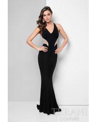 Terani - Alluring Beaded V-neck Mermaid Jerseygown P - Lyst