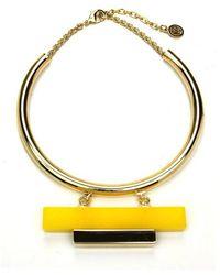 Ben-Amun - Havana Collar With Resin And Gold Bar - Lyst