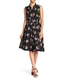 Nanette Lepore Nm8s171j3 Pleated Floral Print A-line Dress - Yellow