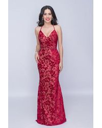 f6fe70ba Lyst - Alyce Paris Sequined Sweetheart Crisscrossed Back Gown 60032 ...