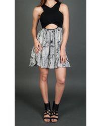 Donna Mizani - V-strap Flounce Dress In Marble - Lyst