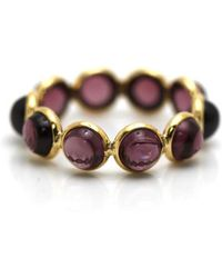 Trésor - Rhodolite Round Stackable Ring Bands In K Yellow Gold - Lyst