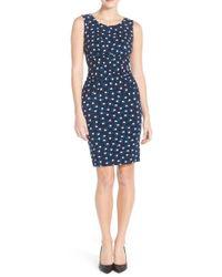 Adrianna Papell - Cross Pleated Dress 15247380 - Lyst