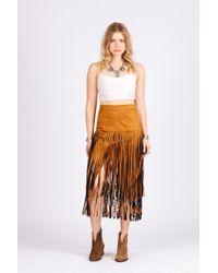 Raga - Desert Fringe Skirt - Lyst