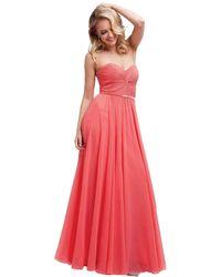 Cinderella Divine - 7455 Strapless Sweetheart Chiffon A-line Dress - Lyst