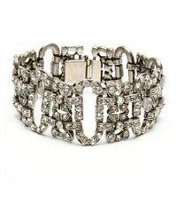 Ben-Amun - Crystal Vintage Deco Bracelet - Lyst