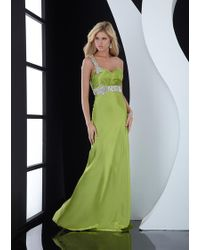 Jasz Couture - Dress In Dark Lime - Lyst