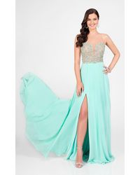 Terani Couture - Illusion Sweetheart Chiffon Gown 1712p2512 - Lyst