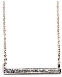 Rachael Ryen - K White Gold Diamond Bar Necklace - Lyst