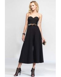Alyce Paris - Strapless Sweetheart Culotte Jumpsuit 2575 - 1 Pc Navy In Size 8 Available - Lyst