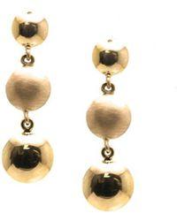Trésor - Lente Tier Earrings In K Yellow Gold - Lyst