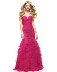 Janique Ja1363 Strapless Fitted Mermaid Long Gown - Metallic
