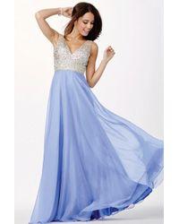 Jovani - Elegant Prom Dress In Illusion Straps Jvn - Lyst