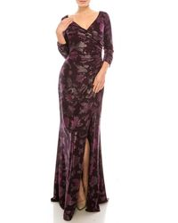 Adrianna Papell Ap1e206702 Metallic Jacquard Sheath Dress - Multicolor
