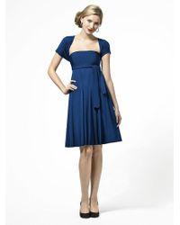Dessy Collection - Lbtwist Dress In Estate Blue - Lyst