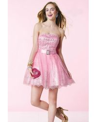 Alyce Paris - Homecoming - Dress In Pink Silver - Lyst