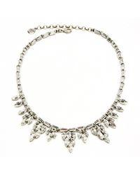 Ben-Amun - Crystal Baguette Necklace - Lyst