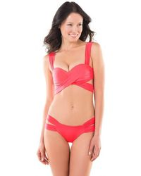 6c3e50f67b6 Voda Swim Neon Pink Envy Push Up String Bikini Top in Pink - Save 37% - Lyst