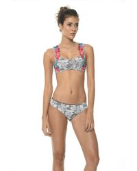 Malai Swimwear - Flowery Printed Reef Ruched Bottom B - Lyst