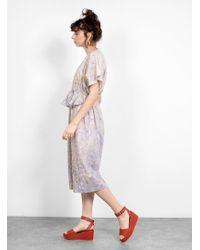 Anntian Printed Silk Ruffle Dress - Multicolour