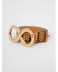 Rejina Pyo Infinity Belt Snake Print - Metallic