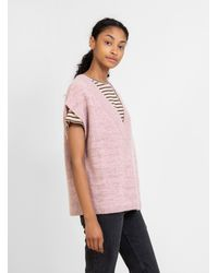 Humanoid Riggs Knitted Vest Powder Rapture - Pink