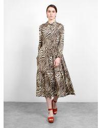 No. 6 - Roman Dress Coffee Cream Zebra - Lyst