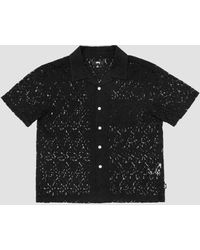 Stussy Floral Pattern Lace Shirt Black