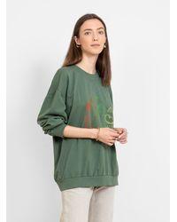Raquel Allegra Drop Shoulder Sweatshirt - Green